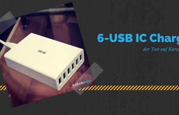 USB Ladegerät - Olixar 6 Slot USB Smart IC Charger im Test