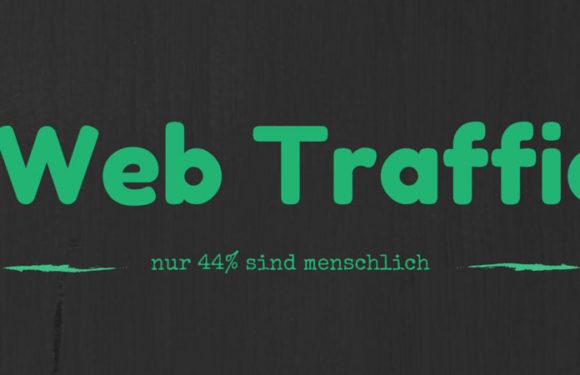 Web Traffic - Nur 44% ist menschlich