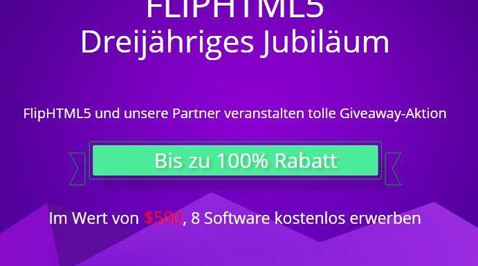 FlipHTML5 plus 8 weitere Tools fast geschenkt