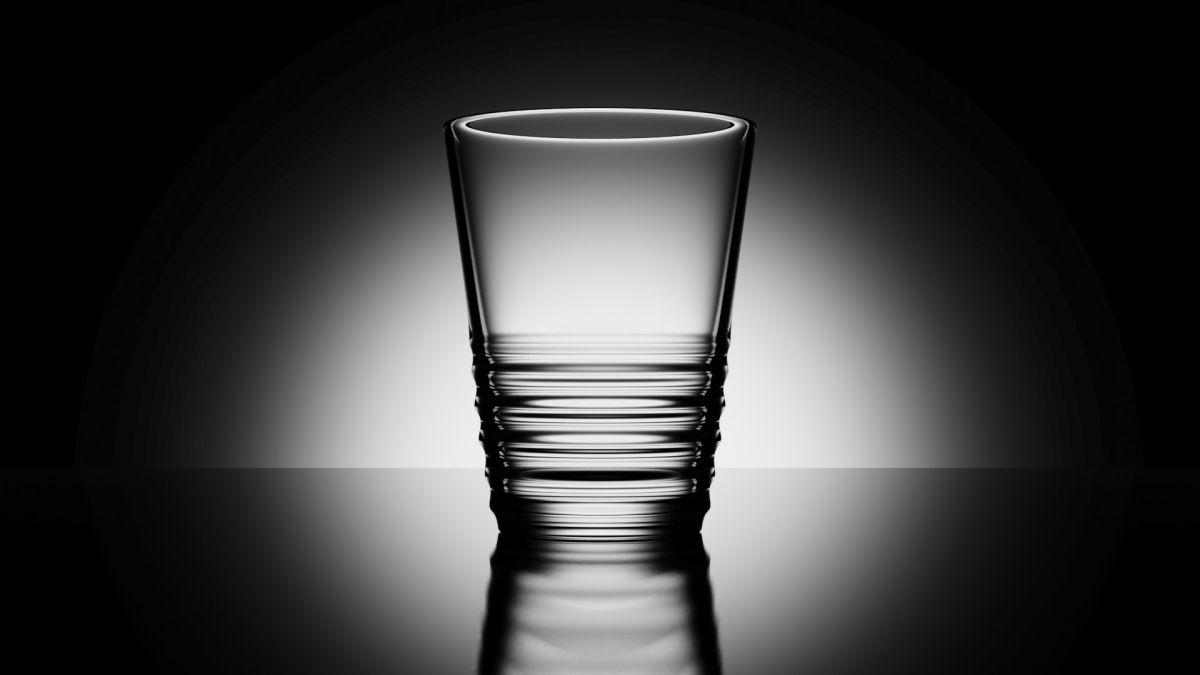 Wasserglas mit Blender erstellt (Bild: Andreas Rabe)