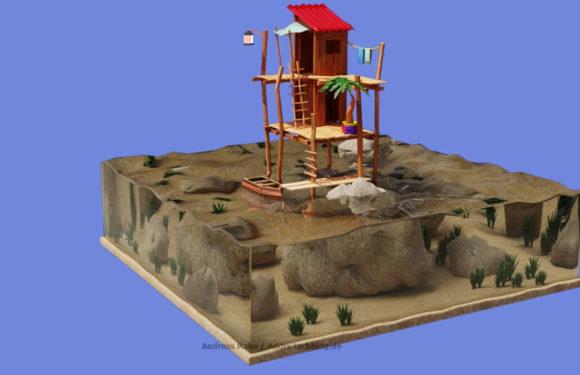 Blender: Die Hütte auf dem Meer