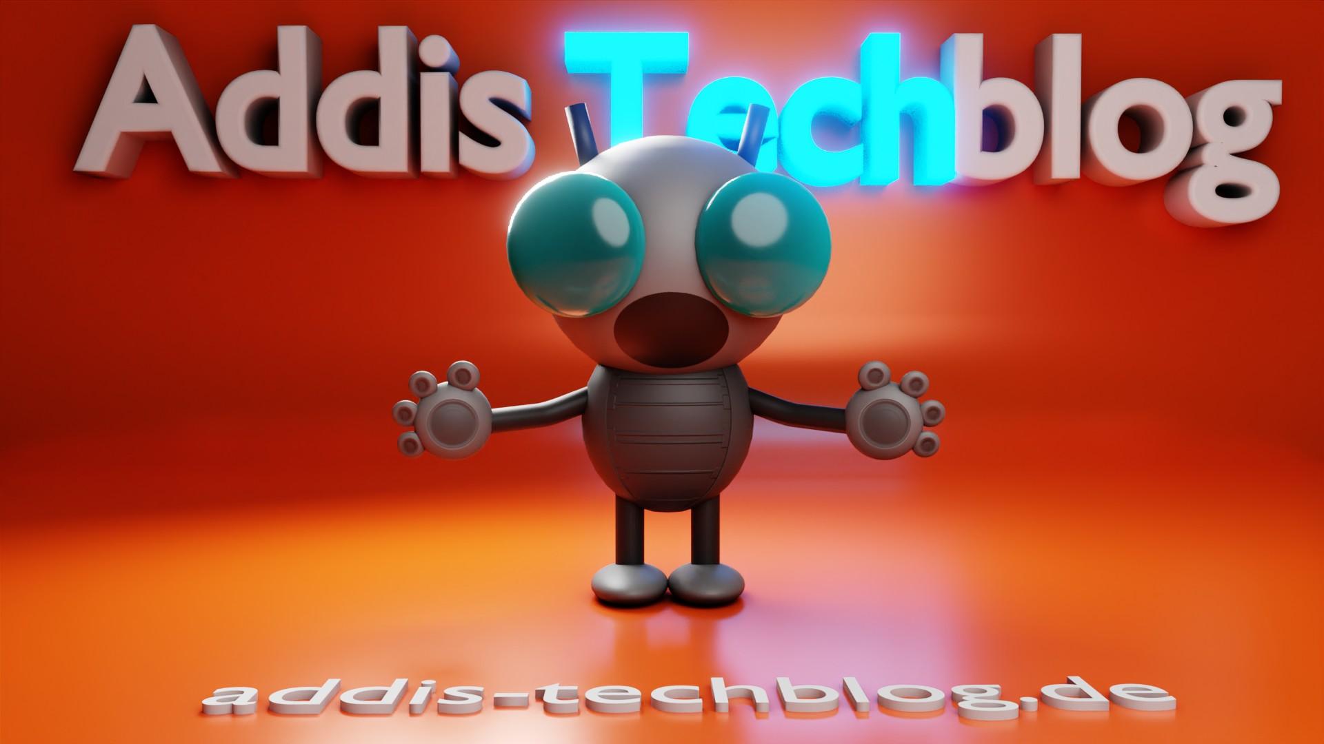 Addis Techblog Logo mit Blender in 3D