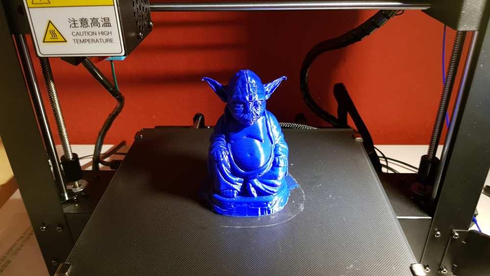 Gedruckter Yoda